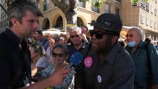 Municipales à Marseille : les militants du Printemps Marseillais mobilisés devant l'espace Bargemon