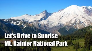 Let's Drive to Sunrise, Mt. Rainier National Park