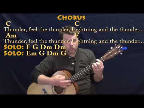 Thunder (Imagine Dragons) Guitar Cover Lesson with Chords/Lyrics - Munson