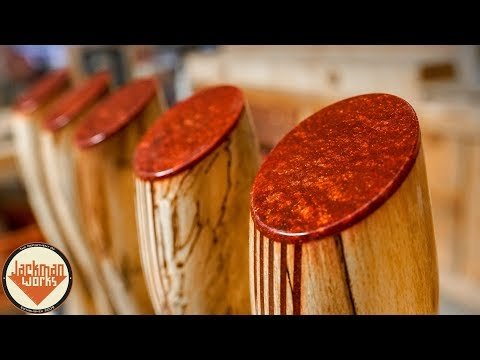 Epoxy Resin & Wood Tap Handles