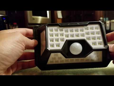 QWOO Solar Outdoor 66 LED Waterproof Motion Sensor Lights. Review