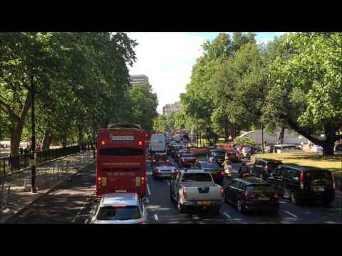 traffic jams in peak time in London huge city
