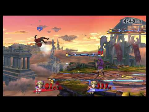 SovaUnknown (Link) vs T (Link) Smash 4 First to 5 [Game 3]