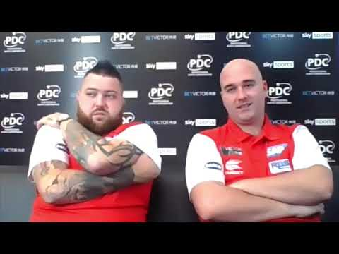 "Rob Cross and Michael Smith: ""Playing for England, you're twitching like a rabbit's nose!"""