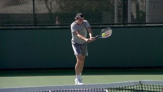 Milos Raonic Backhand In Super Slow Motion - Indian Wells 2013 - BNP Paribas Open