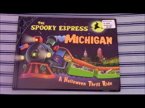 THE SPOOKY EXPRESS- MICHIGAN- Halloween Book - READ ALONG STORY- FOR CHILDREN - Train Talk
