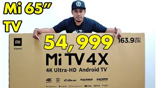 XIAOMI | Mi Tv 4x 169.3cm 65 Inches for 54,999 only Huge 4K TV | Unboxing + Setup (Review Next)