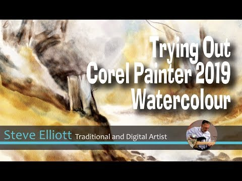 Trying Out Corel Painter 2019 - Watercolour Brushes