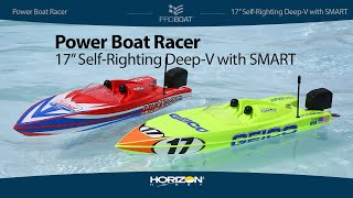 Pro Boat® Power Boat Racer 17-inch Self-Righting Deep-V with SMART Technology