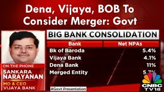 Big Merger Announcement: Dena, Vijaya, BOB To Consider Merger: Govt   CNBC-TV18