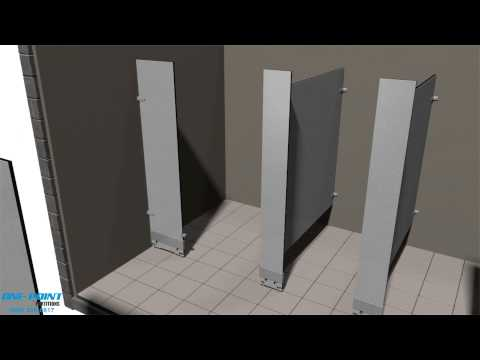 Toilet Partition Installation of Phenolic