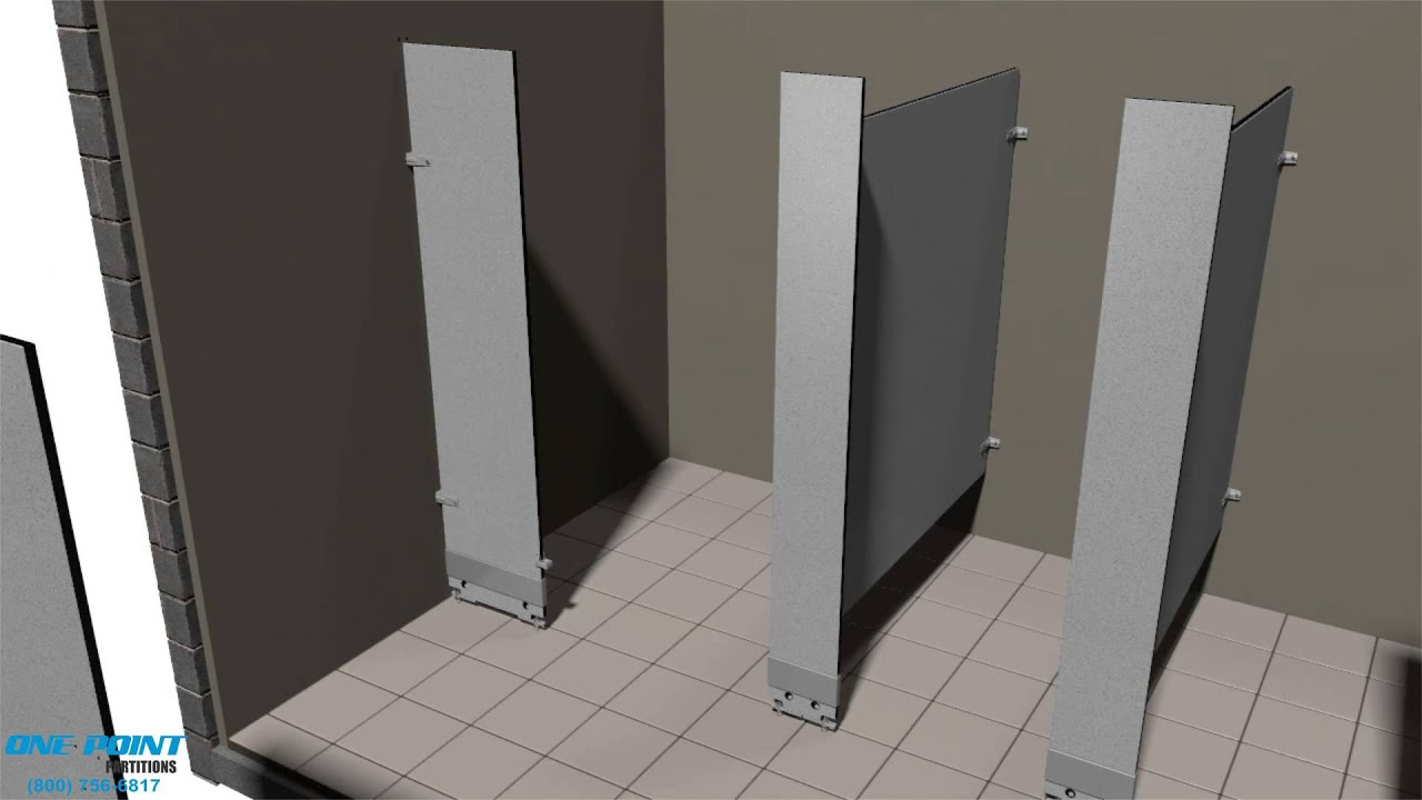 Toilet Partition Installation Of Phenolic YouTube - How to install bathroom partitions