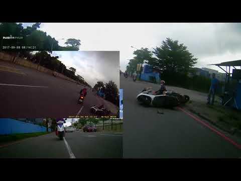 0814有人製造假車禍~將影片放慢至幾微秒才發現