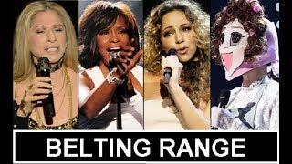 Female Singers with Fantastic Belting Technique