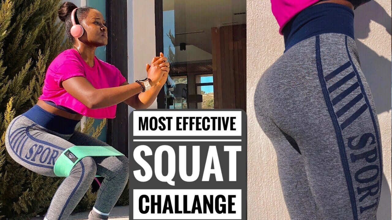 THE BEST 21 DAYS SQUAT CHALLANGE~Do This To Grow Your Glutes & Toned Thicker Thighs