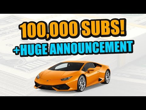 100,000 SUBSCRIBERS! HUGE Announcement And Thank You