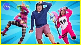 Fortnite Dance Challenge in Real Life + Costume Runway Show Winners!!!