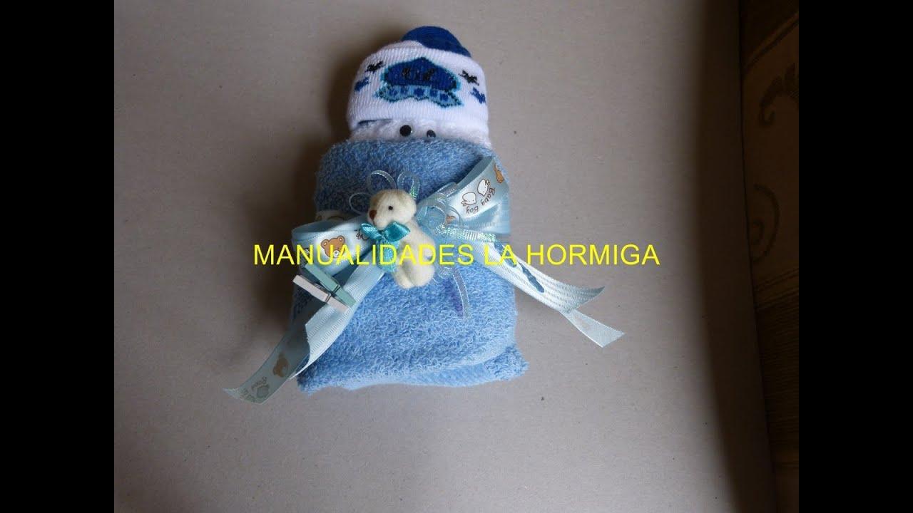 como hacer bebe tela toalla recordatorio baby showers diy 164