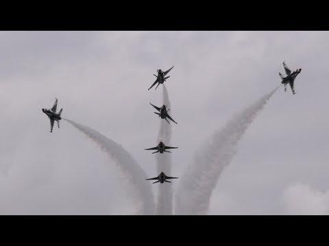 The Thunderbirds at RIAT 16th July 2017