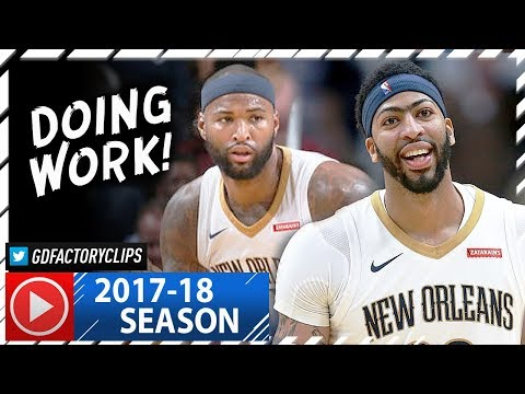 Anthony Davis 29 Pts & DeMarcus Cousins 24 Pts Full Highlights vs Spurs (2017.11.22) - DOING WORK!