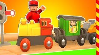 Паровозик мультфильм. Мультик про поезд Брио. Поезд для детей. Машинки для детей 3 лет.