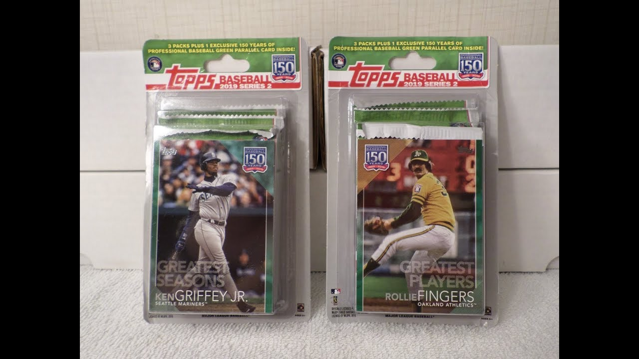 2019 Topps Series 2 Baseball Cards 2 Blister Rack Packs Exclusive Green Parallels