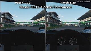 Gran Turismo Sport - Patch 1.19 vs 1.25 - Nissan R92CP Cockpit Comparison