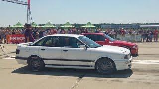 Brutal Launch  Audi 90 800 Hp vs Bmw E36 Sedan - Drag Race Arad 20.05.2017