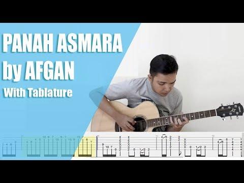 Panah Asmara - Afgan (FREE TABS On Screen For  Fingerstyle Guitar)