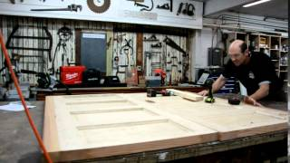 Watch the guys in the Black Dog Salvage shop repurpose salvaged doors into a beautiful bed frame. Music courtesy of Corey