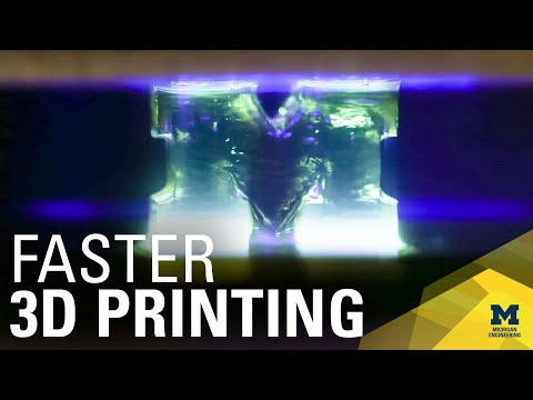 Researchers discover a way to make 3D printing 100 times faster using light
