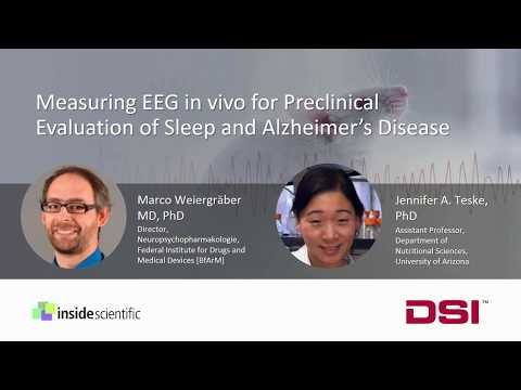 Measuring EEG in vivo for Preclinical Evaluation of Sleep and Alzheimer's Disease