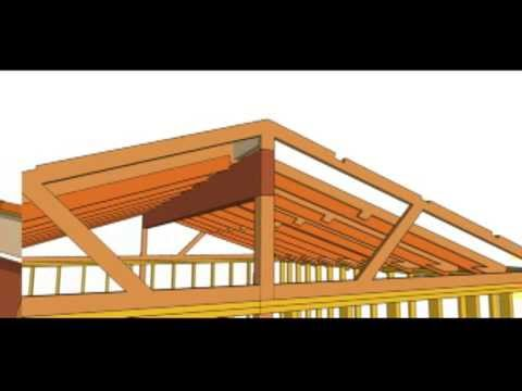 Vaulted ceiling roof trusses home design idea for Cathedral ceiling trusses