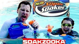 Nerf Super Soaker Soakzooka and the Nerf Blue Tooth Speaker
