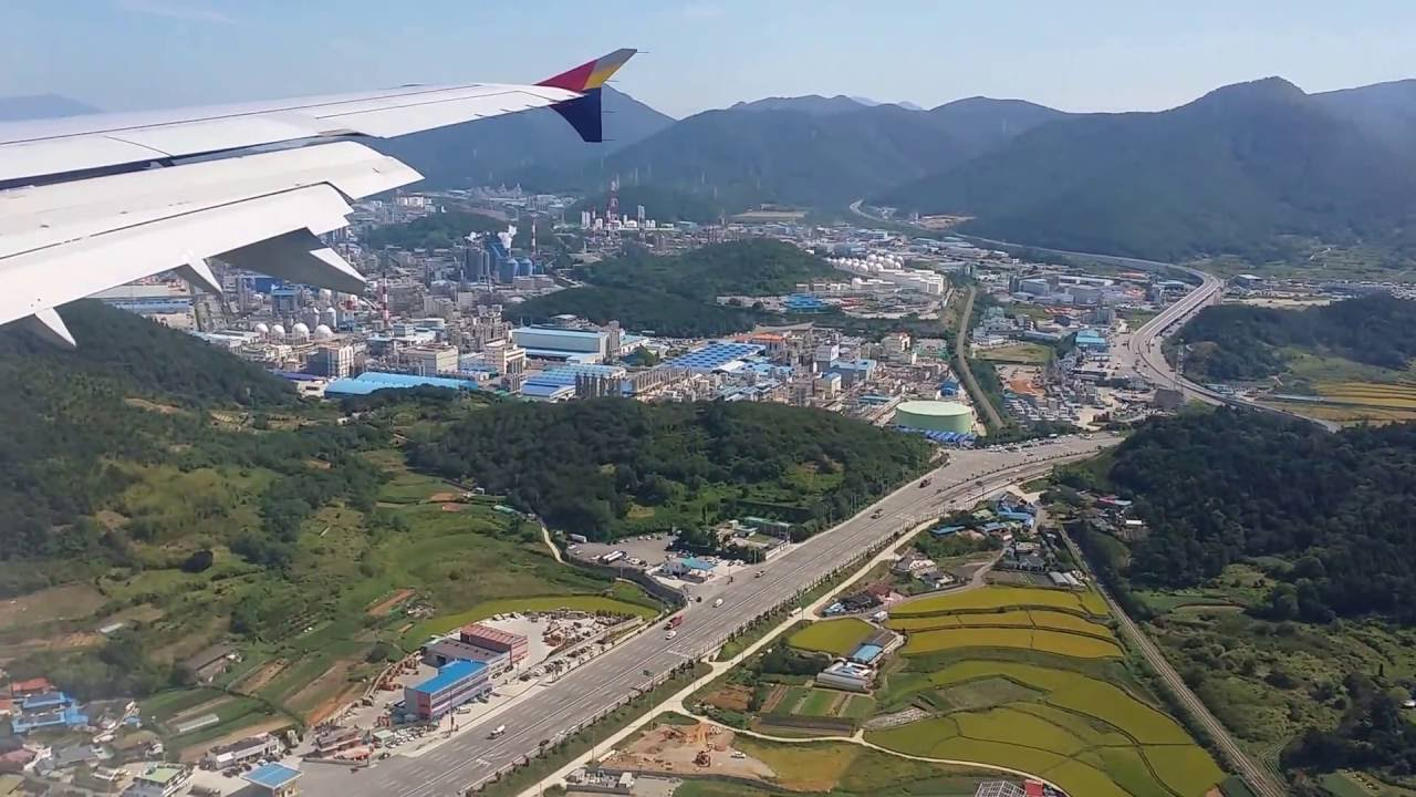 Asiana Airlines (A320-200) landing Video at Yeosu airport (South Korea) 539a87976b62