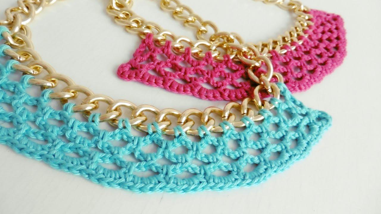 Collar Tejido a Crochet , Paso a Paso