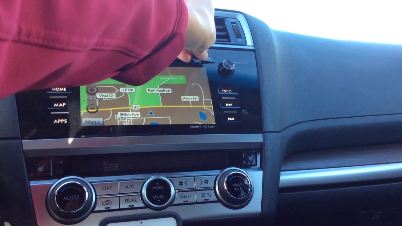 Subaru Navigation Map Update Tutorial