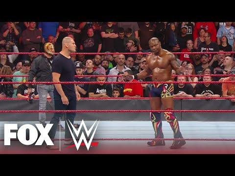 Cain Velasquez & Rey Mysterio get the best of Shelton Benjamin & Paul Heyman   MONDAY NIGHT RAW