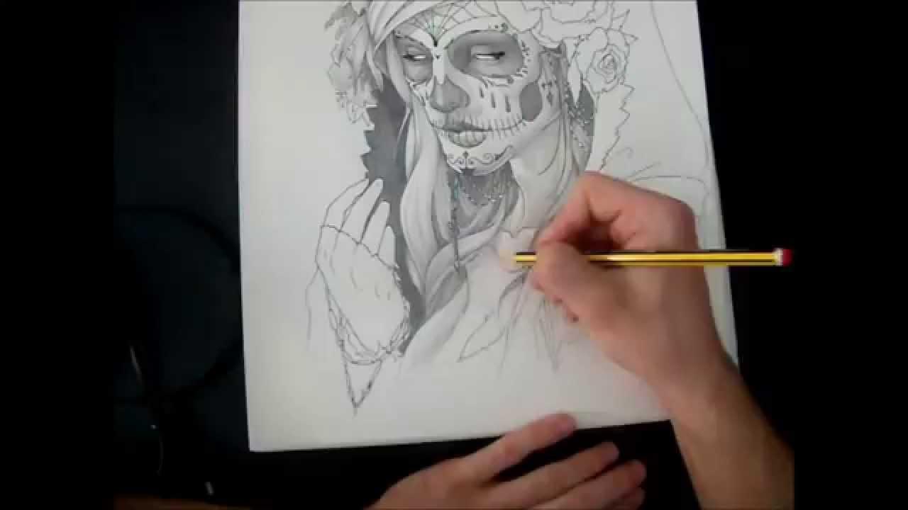 Dibujo De La Catrina 2 Horas Y Un Rato En 4 Minutos Lapiz Y