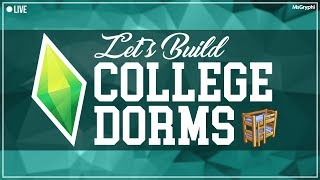 The Sims 4 LIVE -  Road to 2K - Let's Build College Dorms!