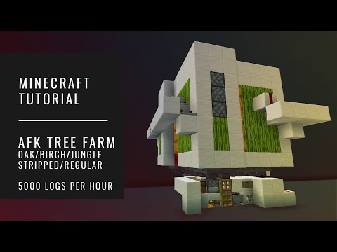 AFK Tree Farm OAK | BIRCH | JUNGLE - 5000 Logs/hr - Minecraft Tutorial