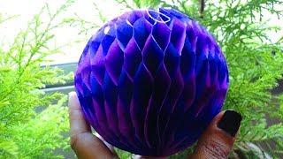 DIY Tissue Paper Honeycomb Ball  | Easy Paper Honeycomb Ball