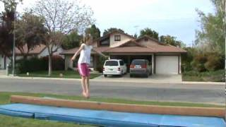 Riley  9 year old gymnast making a level 10 beam routine