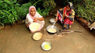 Gola Rooti & Alu Makha Top Indian Village Breakfast by Grandmother