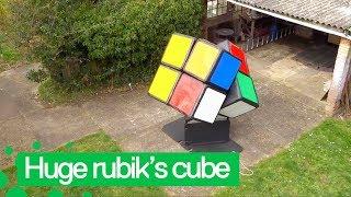 Man Creates Giant Rubiks Cube he Solves from Inside