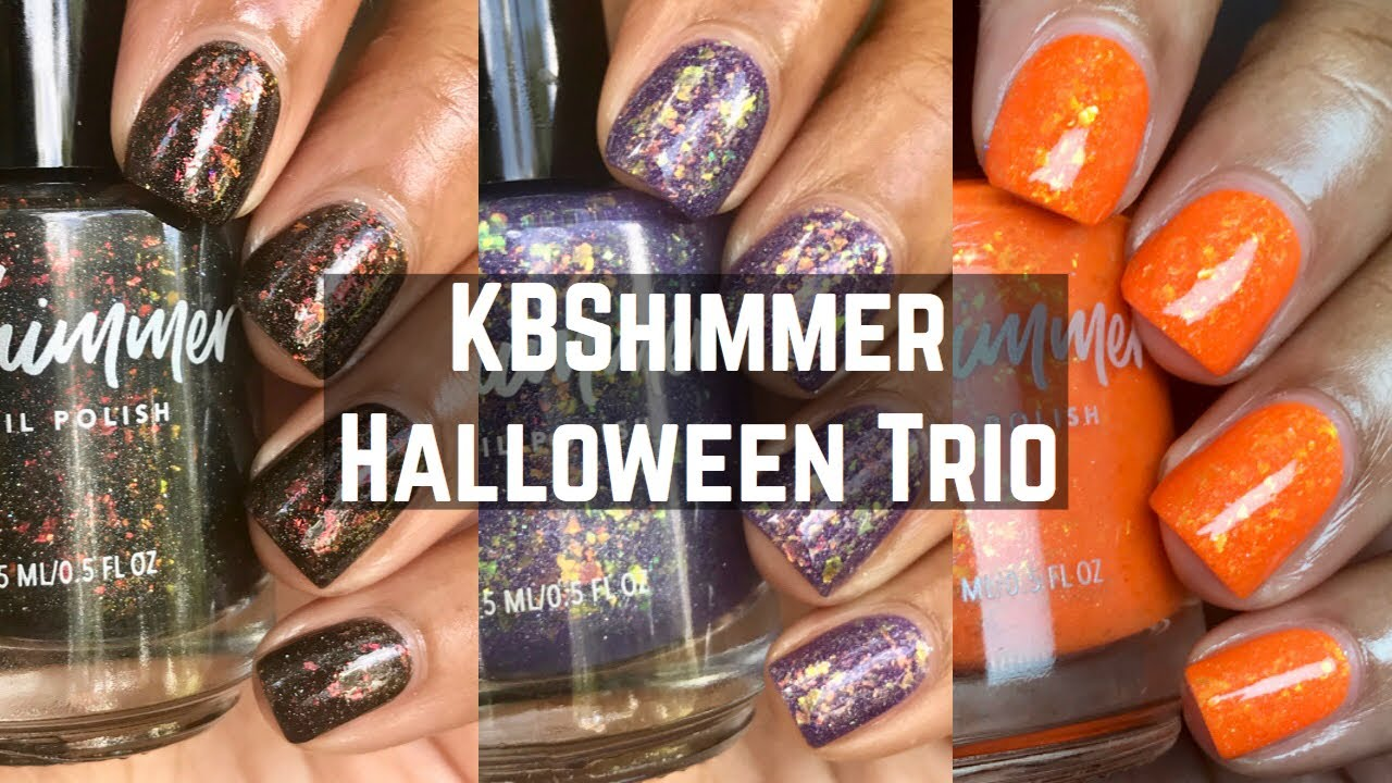 Kb Shimmer Halloween 2020 Kbshimmer Halloween Trio 2020 | Limited Edition | Live Swatch