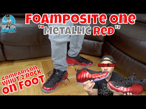 """Foamposite One """"Metallic Red"""" 