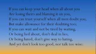 """If"" poem by Rudyard Kipling (British accent)"