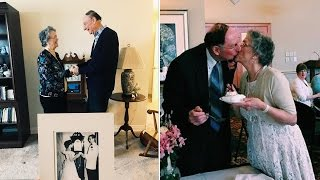 81-Year-Old High School Sweethearts Wed 64 Years After Losing Touch thumbnail