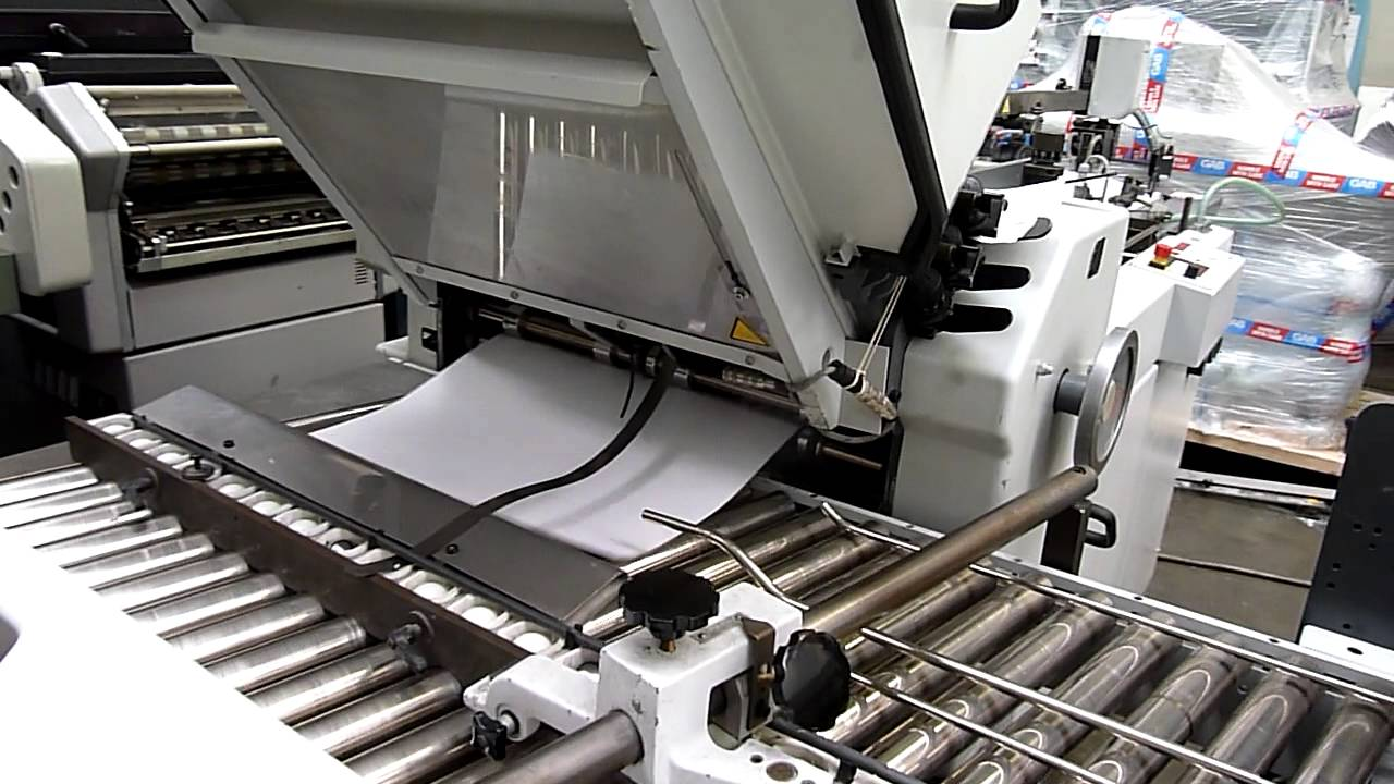 stahl paper folding machine ti 52 44x 2004 youtube rh youtube com